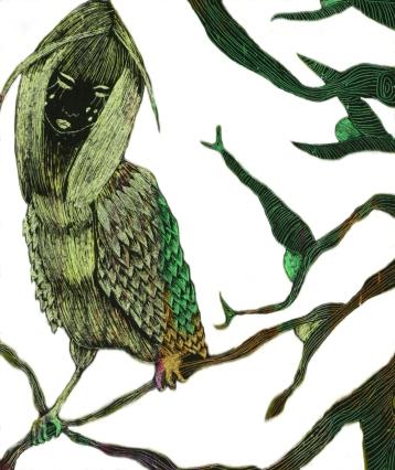 Ghadiani-Vogel-Illustrationen